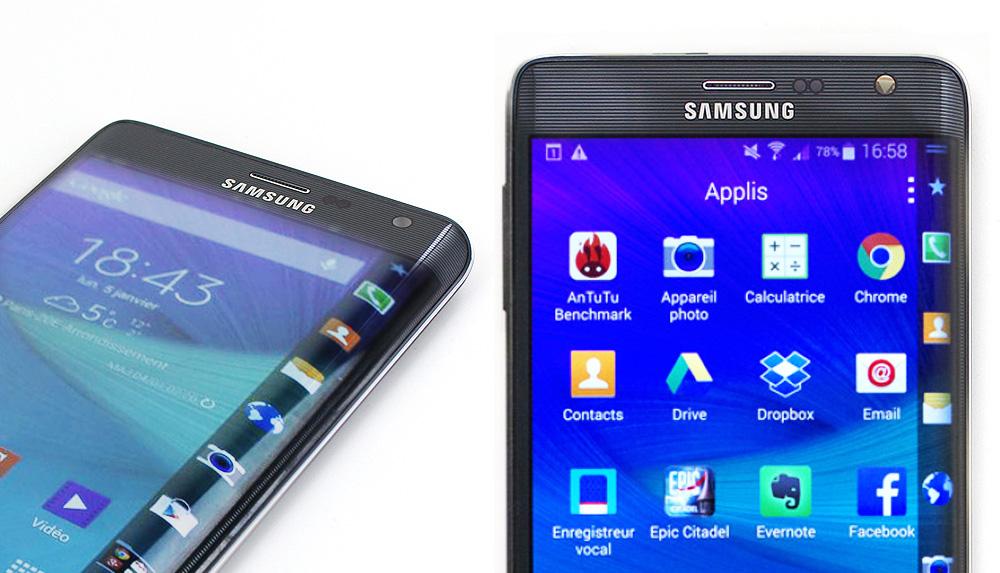 Le Galaxy Note Edge de Samsung, premier smartphone à écran incurvé