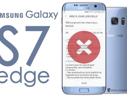 Fin des mises à jour de sécurité pour le Galaxy S7 Edge