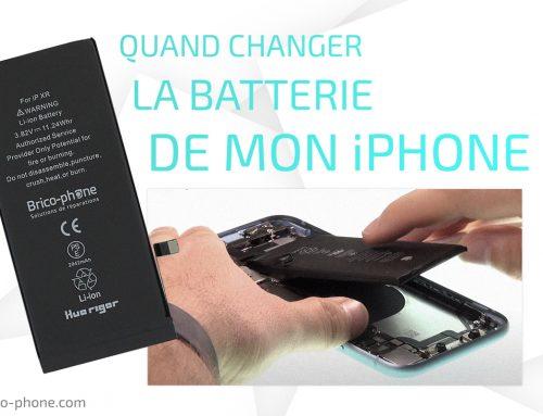 Quand changer la batterie de mon iPhone?